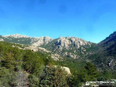 Puente de los Pollos - Cancho de los Muertos - La Pedriza; club de montaña madrid; ruta de senderis